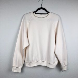GOOD AMERICAN NWT Boxy Fit Cotton Jersey Sweatshir